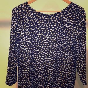 Anthro Black and White Blouse